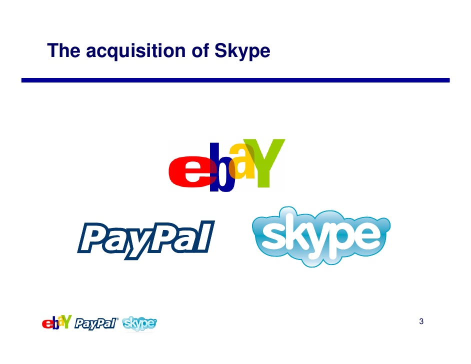 ebay buys paypal and skype